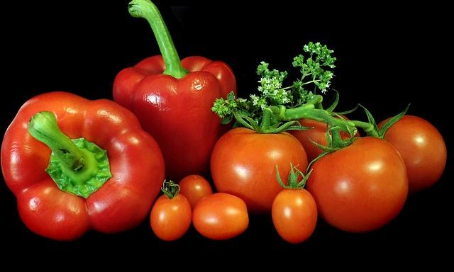 Pomidory i papryka są bogate w likopen